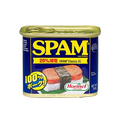 【代引き・同梱不可】ホーメル スパム 20%レスソルト 340g×24個【肉・肉加工品】