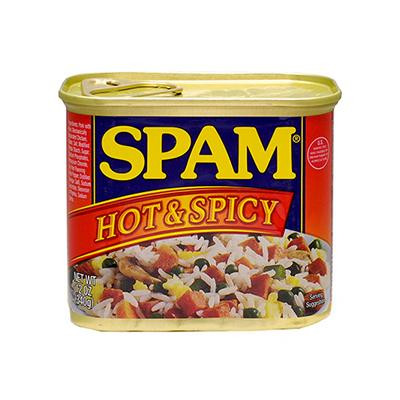 【代引き・同梱不可】ホーメル スパム ホット&スパイシー 340g×12個【肉・肉加工品】