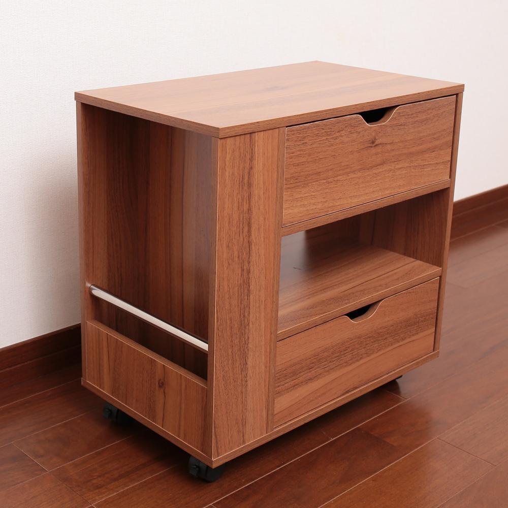 木製ソファサイドワゴン ブラウン SPTK-50B【家具 イス テーブル】