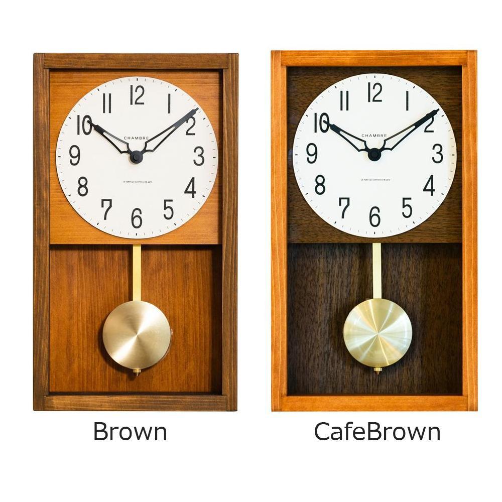 掛け置き兼用で場所を選ばず使用できます 売り込み CHAMBRE HINOKI PENDULUM CLOCK 掛け時計 置物 AL完売しました。