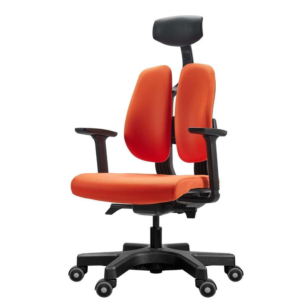 【代引き・同梱不可】回転椅子 D100 (ORANGE)【家具 イス テーブル】