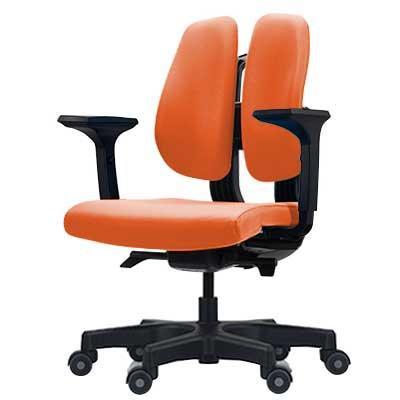 【代引き・同梱不可】回転椅子 D150 (ORANGE)【家具 イス テーブル】