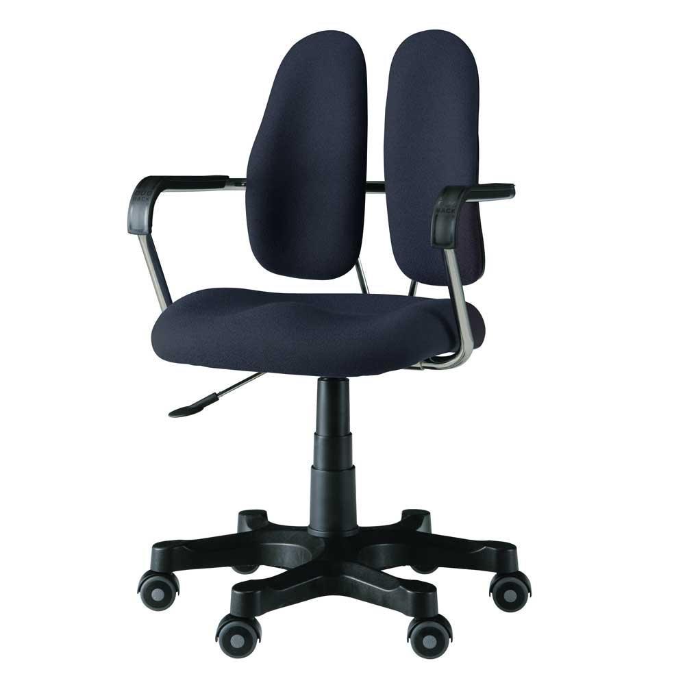 【代引き・同梱不可】回転椅子 DR-260 (DOT BLACK)【家具 イス テーブル】