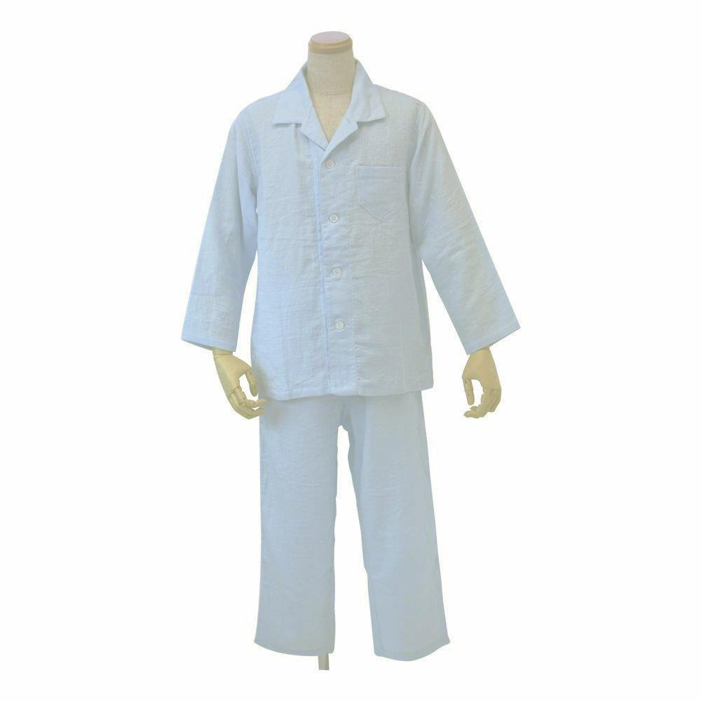 内野 uchino マシュマロガーゼメンズパジャマ XL LB(ライトブルー) RP15681L【ナイトウェア】