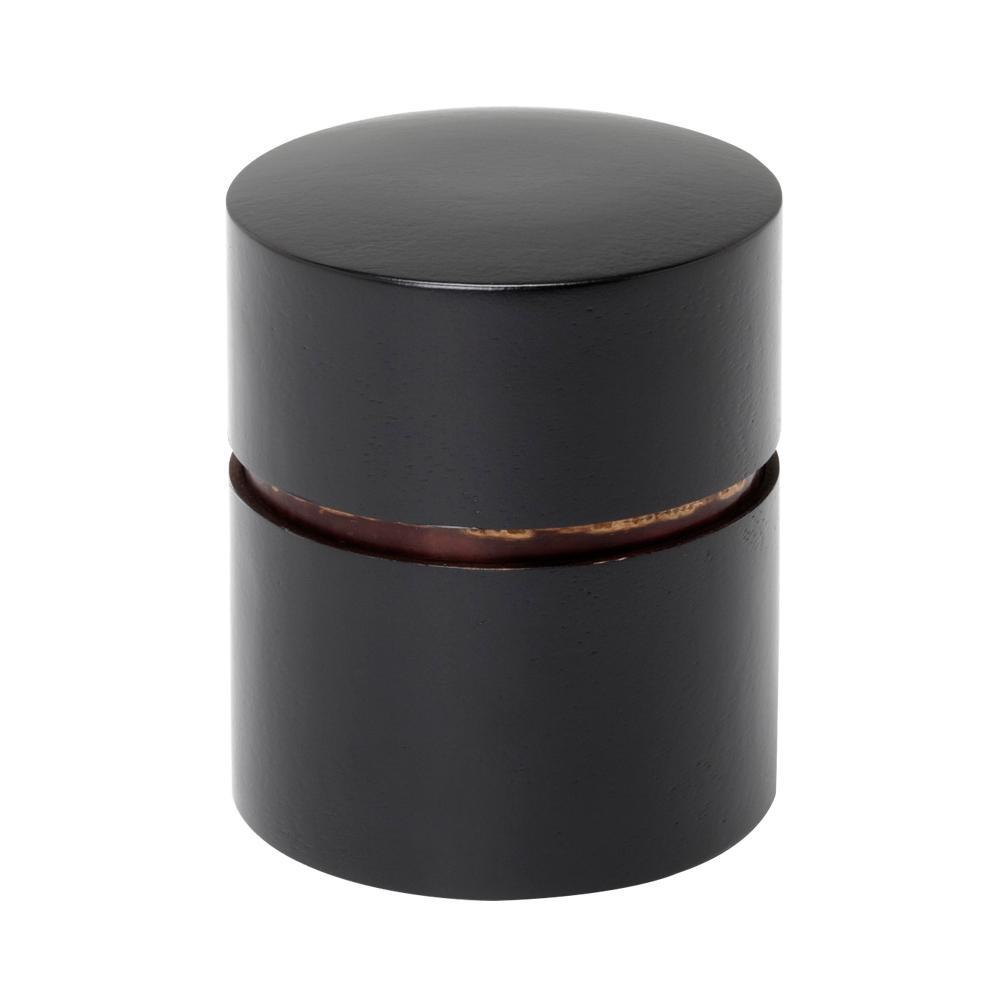 【代引き・同梱不可】帯筒 茶筒(平)ぶけやしき 39218【食器】