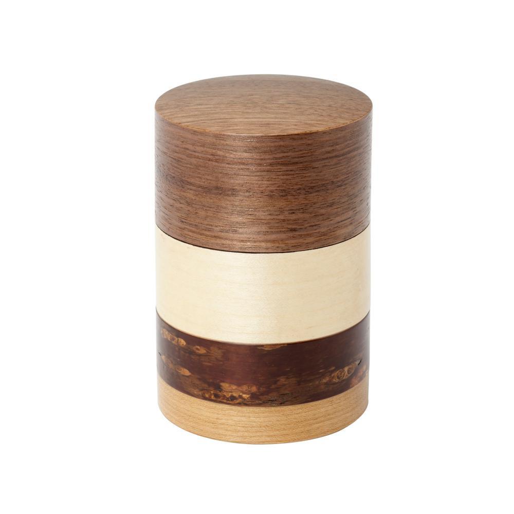 【代引き・同梱不可】輪筒4色 茶筒 くるみ 37202【食器】