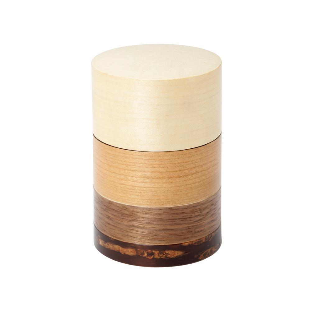 【代引き・同梱不可】輪筒4色 茶筒 かえで 37204【食器】
