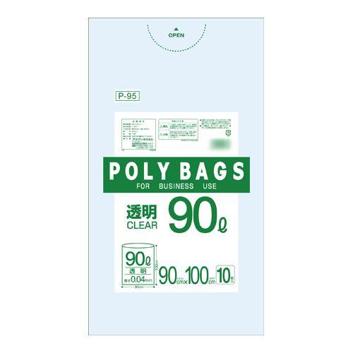 【代引き・同梱不可】オルディ ポリバックビジネス90L 透明10P×30冊 30301【掃除関連】
