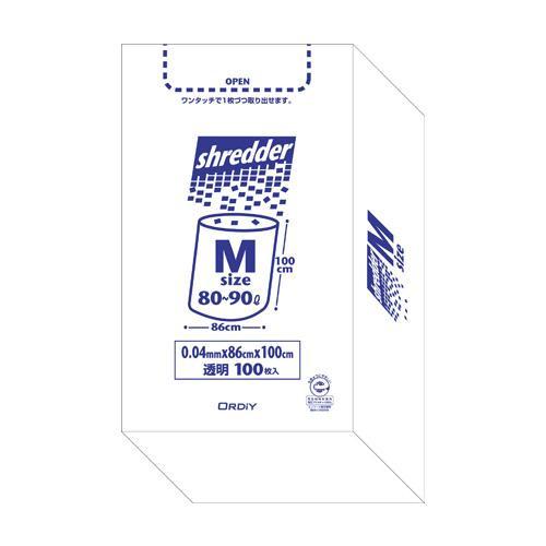 【代引き・同梱不可】オルディ ポリバックシュレッダー用ボックスM 透明100P×3箱 510301【掃除関連】