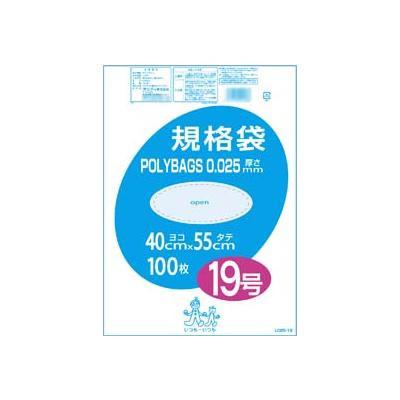 【代引き・同梱不可】オルディ ポリバック規格袋19号0.025mm 透明100P×10冊 10507801【掃除関連】
