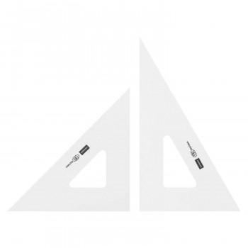 製図用品です 三角定規 24cm×2mm 高価値 1-809-2420 登場大人気アイテム 目盛りなし