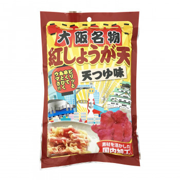 紅生姜天のスナック 【代引き・同梱不可】タクマ食品 紅しょうが天 10×6個入