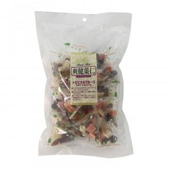 個包装のドライフルーツミックス 代引き 同梱不可 10×4個入 タクマ食品 高級な 公式 爽健菓仁トロピカルフルーツ