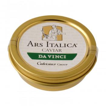 北イタリアで養殖されたキャヴィア 代引き 同梱不可 春の新作 高級品 アルスイタリカ イタリア産キャビア ソフトパスチュライズ ダヴィンチ 7205 50g アドリアチョウザメ
