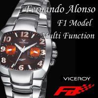【送料無料】VICEROY(バーセロイ) フェルナンド・アロンソ F1モデル マルチファンクション(レディースモデル) VC432018-45(茶色)/6877aj 腕時計 レディース ladys かわいい 女性用