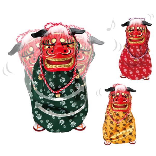 【あす楽対応・送料無料】踊る獅子舞 M/置き物 獅子舞 音楽 新春飾り 縁起 踊る 人形