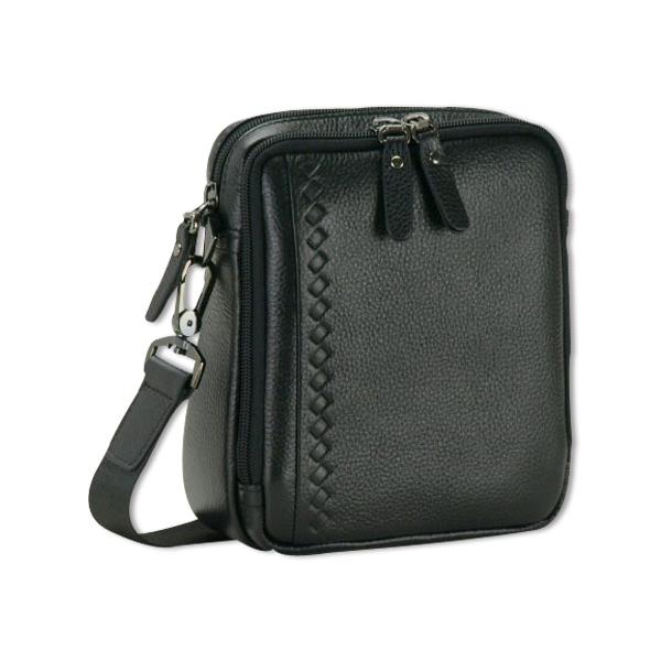ショルダーバッグ 牛革 縦型 サブルーム付き 15cm/16345/メンズ mens バッグ bag 旅行 ショルダー 小ぶり メンズ バッグ
