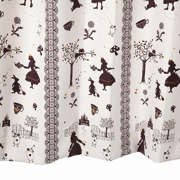 【幅201から300cm】【丈201から230cm】プリーツが綺麗なオーダーカーテン アリス柄 アイボリー