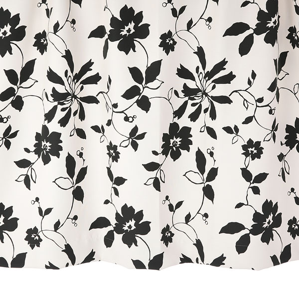 オーダーカーテン 花柄カーテン 幅150cm×丈205~240cm2枚 un391bk 納期10日程度