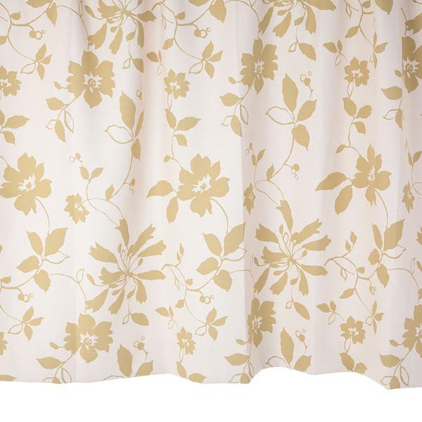 オーダーカーテン 花柄カーテン 幅150cm×丈205~240cm2枚 un391g 納期10日程度