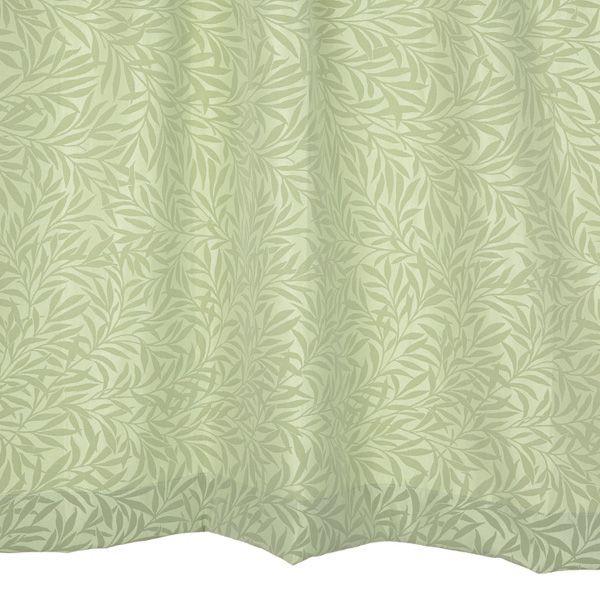オーダーカーテン リーフ柄 グリーン 幅150cm×丈125~160cm2枚 yh1g 納期10日程度