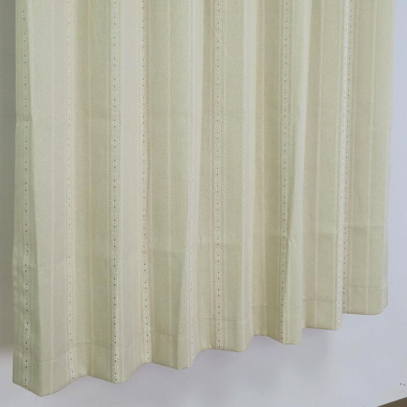 【幅201から300cm】【丈51から80cm】プリーツが綺麗なオーダーカーテン シンプル柄 ベージュ tt221be