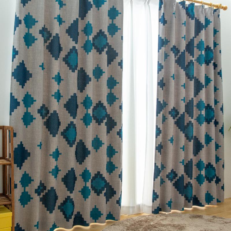 【幅201から250センチ】【丈151から200センチ】オーダーカーテン オルロ 遮光1級カーテン プリーツが綺麗な形状記憶加工付き