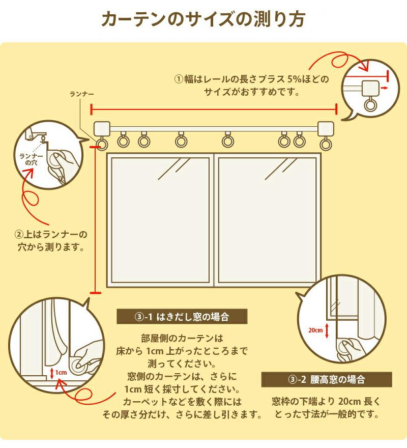 カーテン採寸方法