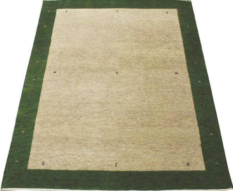 ラグマット ウール100% グリーン 約136×198cm オリジナルギャベ 4587 (Y) お買い物マラソン