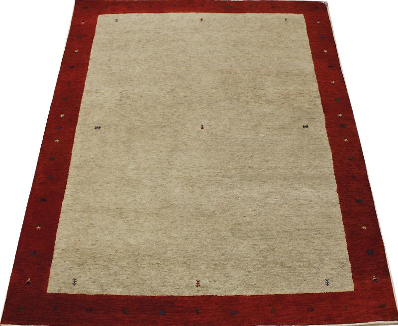 オリジナルギャベ ウール100% ラグ カーペット レッド 約136×198cm 4587 (Y) 引っ越し 新生活