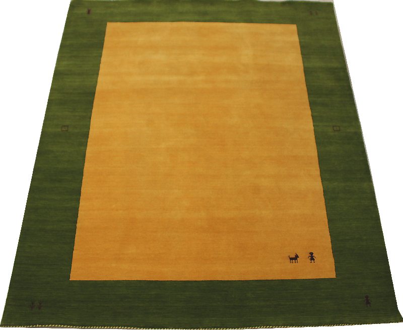 インドギャベ ハンドルーム ラグマット (Y) ウール100% グリーン 約168×228cm ハンドルーム VL1126 インドギャベ (Y), イケモト(雑貨衣類食品):79856a85 --- data.gd.no