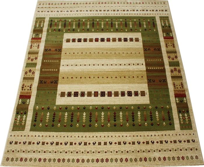 ウィルトンカーペット 輸入カーペット 絨毯 ギャベ柄ラグマット ラパズ4015 グリーン (Y) 約240×340cm 【約50万ノット】LAPAZ GREEN