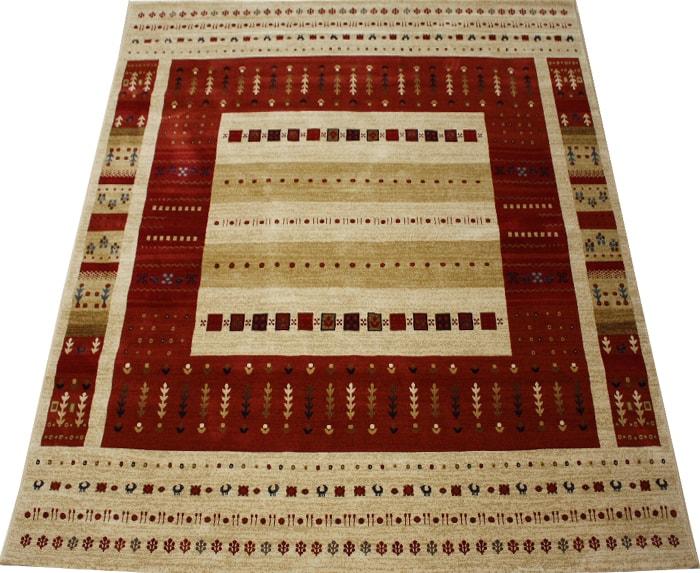 ウィルトンカーペット 輸入カーペット 絨毯 ギャベ柄ラグマット ラパズ4015 レッド (Y) 約200×250cm 約50万ノット LAPAZ RED 半額以下 引っ越し 新生活スーパーSALE