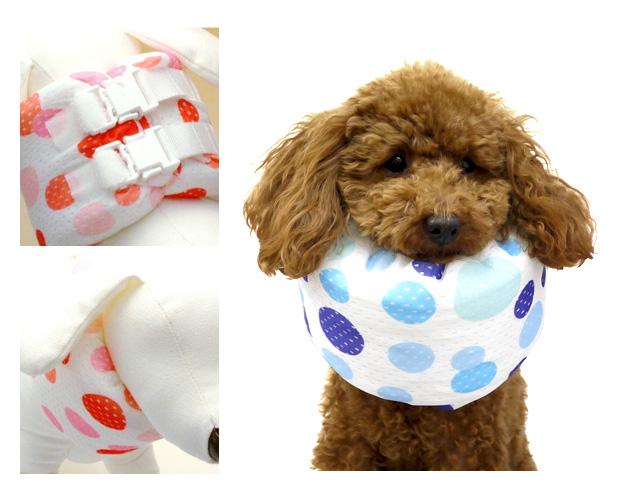 ペットヘルスケア クインカラー25 ドット柄(2色)【SS】犬介護グッズ クークチュール エリザベスカラー【RCP】