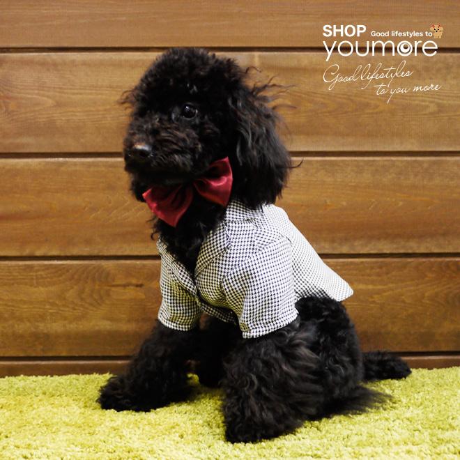 とっても可愛いドッグウェア 犬服 蝶ネクタイ付き千鳥模様ジャケット ドッグウェア 小型犬用 ブランド買うならブランドオフ ギフ_包装