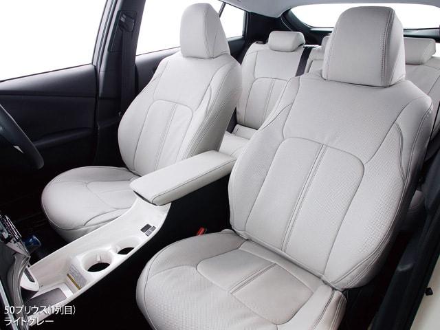 CLAZZIO高級ミニバン用本革シートカバー装着例アイボリー