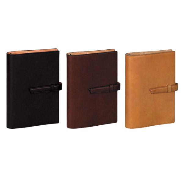 ダ・ヴィンチ DAVINCI グランデ システム手帳 アースレザー(堪能) 聖書サイズ リング24mm ブラック/ダークブラウン/ブラウン DB1312B/DB1312E/DB1312C