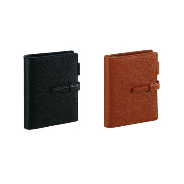 ダ・ヴィンチ DAVINCI システム手帳 グレインレザー(有能) ポケットサイズ ブラック DP607B/ブラウン DP607C