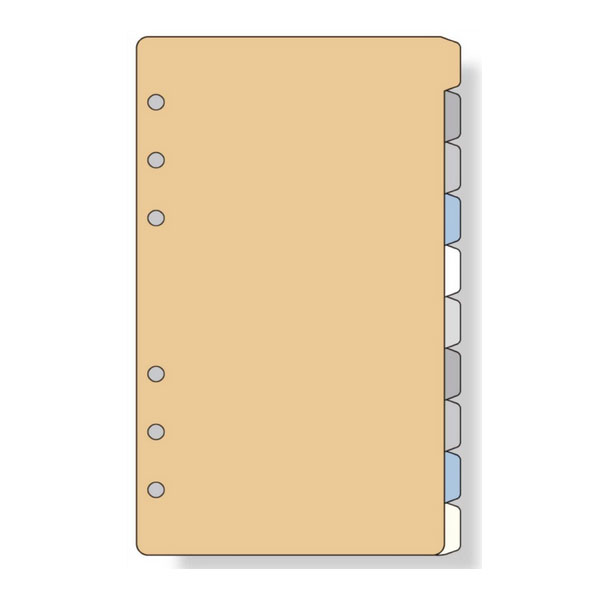 다 빈치 DAVINCI 리필 성경 크기 용 칼라 인덱스 (10) W100×H170mm 10 매 DA-DR407