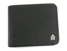ダンヒル DUNHILL 二つ折り財布(小銭入れ無) ダークグレー L2M130Z