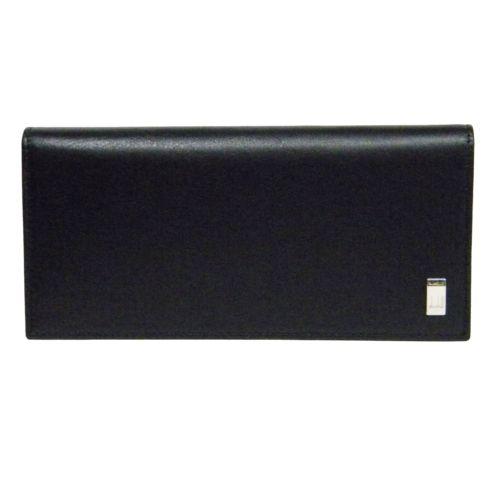 ダンヒル DUNHILL 二つ折り長財布(小銭入れ付き) ブラック QD1010A