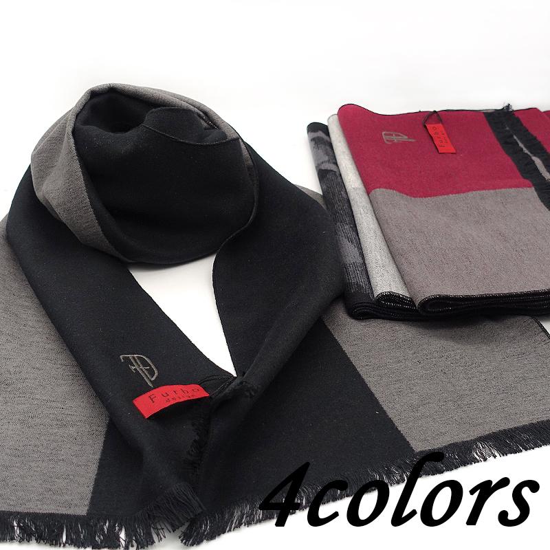 Furbo design フルボ デザイン マフラー 501 カモフラ/502 2トーンカラ― BLACK/RED/WHITE 180×30cm メンズ ブランドマフラー 人気 記念品 御祝い お祝い