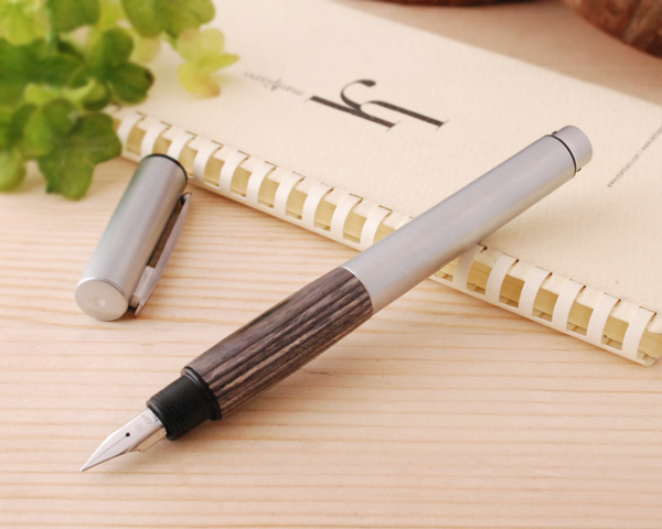 Lamy LAMY accent AL fountain pens rubber grip and wooden grip (EF/F/M/B size) l96/l96w