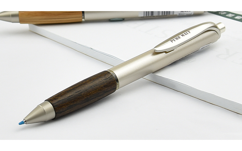 미쓰비시 연필 MITSUBISHI PENCIL 퓨어 몰 트 다크 브라운/내츄럴 젤 잉크 볼펜 0.5 mm UMN-515-22/UMN-515-70