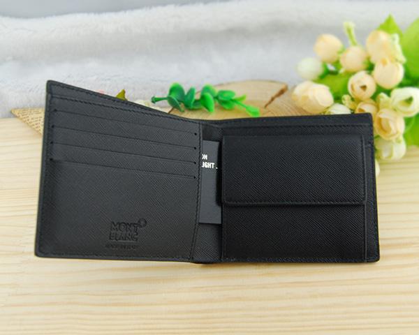 몽블랑 MONTBLANC NFL 시그니처 지갑 4CC 동전 지갑 딸린 반 접기 지갑 블랙 MB106750