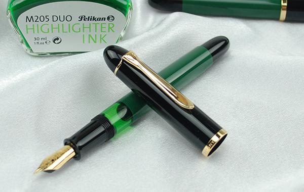 펠리컨 PELIKAN 만년필 특별 생산품 M120 그린 블랙 GT EF/F/M 사이즈