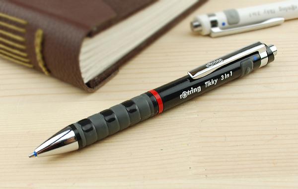 로트 링 ROTRING 멀티 펜 복합 필기도구 Tikky3in1(BP+SP0. 7) 화이트1904452/블랙 1904359
