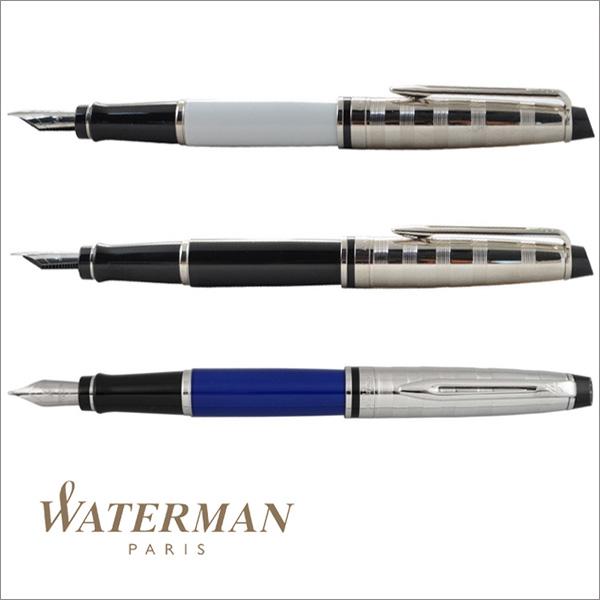 ウォーターマン WATERMAN エキスパート デラックス 万年筆 F/Mサイズ ホワイトCT S224318 ブルーCT 190458 ブラックCT S224317