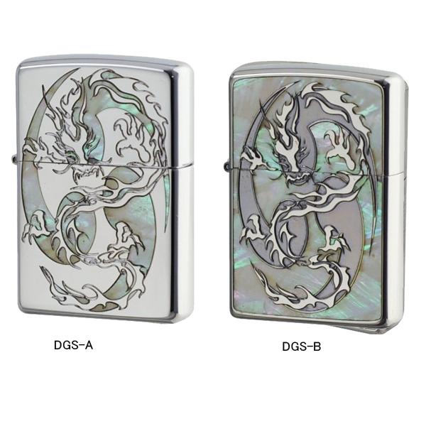 ジッポー ZIPPO オイルライター DRAGON SHELLY ドラゴン ニッケルパラジュウム DGS-A/ニッケルブラックDGS-B