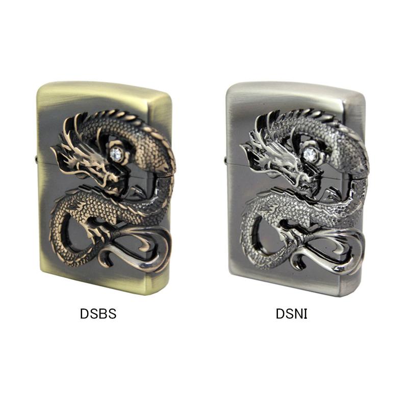 ジッポー ZIPPO ライター 龍サイドメタル 真鍮古美 DSBS/ニッケル古美 DSNI